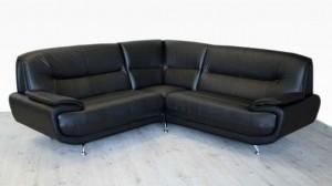 PALOMA - Canapé d'Angle Noir