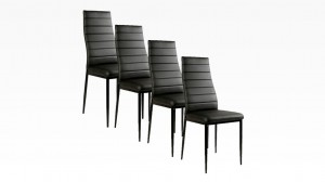 MANY - Lot de 4 chaises Noir