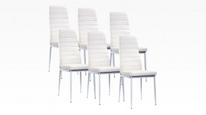 MANY - Lot de 6 chaises Blanc