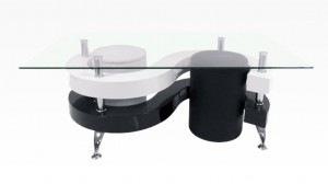 YING - Table Basse + 2 poufs