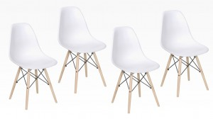 SWEDEN - Lot de 4 Chaises Blanc