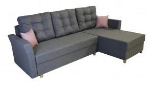 COZY - Canapé d'angle Convertible Droit Gris