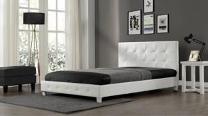 PLAZA - Lit Complet Blanc 160x200 cm