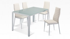 MANY - Table + 6 Chaises Blanc