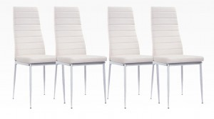 MANY - Lot de 4 chaises Blanc