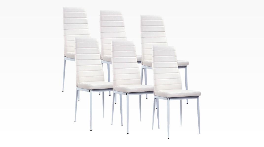MANY - Lot de 6 chaises Blanc