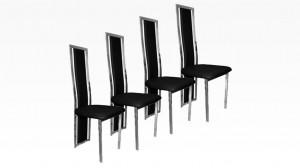 LIVING - Lot de 4 chaises Noir