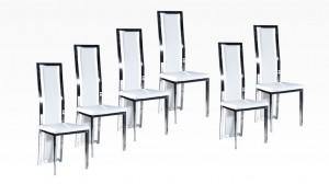 LIVING - Lot de 6 chaises Blanc
