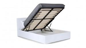 BOX - Lit Complet Blanc 140x190 cm