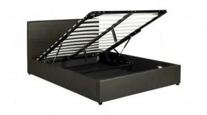 BOX - Lit Coffre Noir 160x200 cm